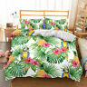3D Parrot Palm leaf Bedding Set Duvet Cover Queen Comforter Cover PillowCase
