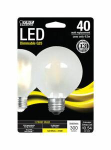 FEIT Electric 45 watts G25 LED Bulb 300 lumens Soft White Globe 40 Watt