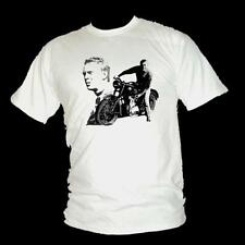 STEVE MCQUEEN - THE GREAT ESCAPE - Classic war film mens T-shirt all sizes