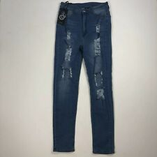 a5d6b9e0ca467 BOB Fashion Nova Super High Rise Waist Skinny Jeans Size 1X Ripped NWT