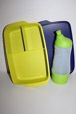 TUPPERWARE Sportfreund Flasche 415 ml grün Clevere Pause Dose Früstukbox 1,0 L