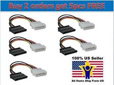Lot 5x 4 Pin IDE Molex to 15 Pin Serial ATA SATA Hard Drive Power Adapter Cable