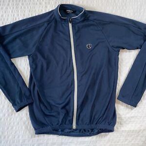 Pearl Izumi Mens Blue Jersey Jacket Full Zip Medium Pockets LS Cycling