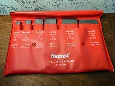 6 Pc Starrett Adjustable Parallel Set No S154