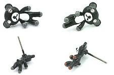 Cute tiny black teddy bear stud earrings Xmas' gift!