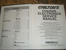 1991-1993 Chilton Chassis Electronics Service Manual Jaguar Audi Bmw Porsche