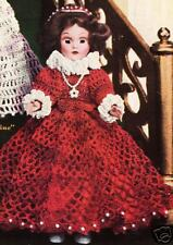 "Crochet Doll MARY QUEEN of SCOTS 7"" Clothes Pattern"