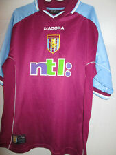 "Aston Villa 2000-2001 Home Football Shirt Size Large 42""-44""  /24574"