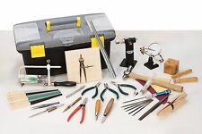 Jewelers Hand Tool Kit Jewelry Making Set Essentials Pliers Files Hammer… More