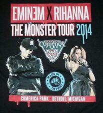 DETROIT EXCLUSIVE Comerica Tigers Park Eminem Rhianna Monster 2014 T-Shirt large