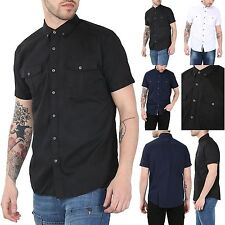 Unbranded Men's Short Sleeve Collared Slim Casual Shirts & Tops