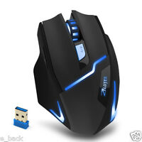2.4Ghz Wireless Adjustable 2400DPI Optical Gaming Mouse Mice For Laptop PC Gamer