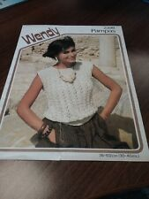Wendy knitting pattern 2398 for dk sleeveless sweater  30-40 inch