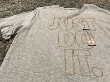 Nike Just Do It LeBron James 23 Cleveland Cavaliers Cavs t shirt gray gold XL 16