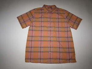 The North Face Men's Pacific Coast Shirt Size Medium Short Sleeves Orange M CEY1