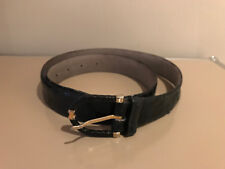 tres jolie ceinture bleu style reptile reference ROSE NOBLE 125 /110
