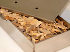 BBQ SMOKER BOX PACK - Stainless Steel Box + 1/2kg HICKORY Wood Chips - FREE POST