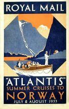 "ROYAL MAIL /""ATLANTIS AUTUMN CRUISES/"" ....Vintage Travel Poster A1A2A3A4Sizes"