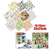 Pre-Cut Quilters Fat Quarters, Fat 100% Cotton Fabric 25*25cm Bundle Crafts DIY