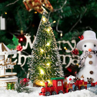 24Pcs Tabletop Christmas Pine Tree Xmas Mini Snow Tree Small Decoration Gift Vi