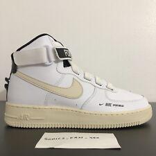 factory price 0b12a c73a9 Nike Women s Air Force One HI UT White Light Cream Black White SZ 11 AJ7311  100