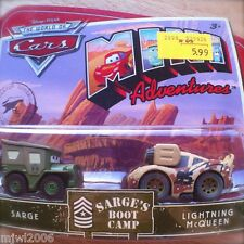 Disney PIXAR World of Cars MINI ADVENTURES Sarge's Boot Camp SARGE & MCQUEEN