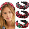 Ladies Merry Christmas Knot Headband Hairband Alice Hair Band Accessories Party