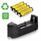4x Garberiel 3.7V 1200mAh Li-ion Rechargeable 14500 Battery + Charger For Torch