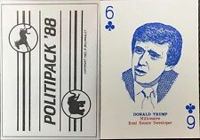 1988 Investment Deck Trump 1st Edition American Political Campaign Playing Cards