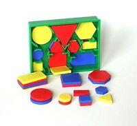 2D SHAPE ACTIVITY - MINI POCKET SET - Circles, Triangles, Squares, Rectangles, H