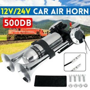 500DB Super Loud Air Horn Compressor 12V/24V Trumpet For Train Car Truck Boat D