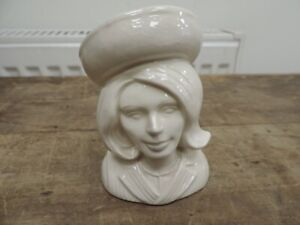 Rare Glazed But Unpainted Beswick Lady Penelope Ceramic Bust From Thunderbirds
