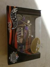 Hot Wheels HARRAH'S #14 Thunder Rides 1/18 Nascar Motorcycle 2002 MIB.