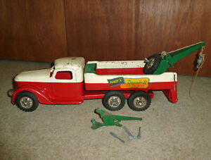 Buddy L Mobile Repair-It Unit Wrecker Tow Truck - Pressed Steel with Jack & tool