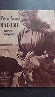 Brigitte Bardot Rivista Per Voi Madame N° 132 1956 Be IN 4