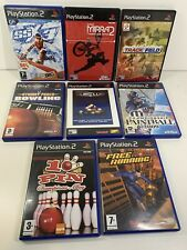 PS2 Retro Bundle Sports Games x8 Free Running Paintball Track & Field Bowling