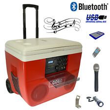 GOSO 52 Qt. Cooler Stereo & Karaoke, Loud Speaker System w/Wireless Mic & Remote