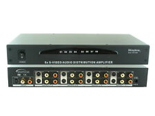 1x8 8-WAY S-Video with Audio Splitter Distribution Amplifier +Rack Mount SB-3709