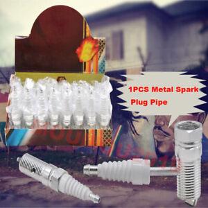Quality Metal Spark Plug Pipe Tobacco Smoking Pipes Mill Smoke Narguile Grinder