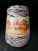 Peaches & Creme - Chocolate Milk 14 oz Cone Yarn 100% Cotton 4 Ply