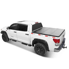 Solid Tri-Fold Tonneau Cover 5.5ft Truck Bed For 2004-2018 Ford F-150 Lock Hard
