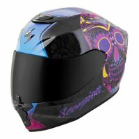 Scorpion EXO-R420 Full Face Motorcycle Street Helmet SugarSkull Medium