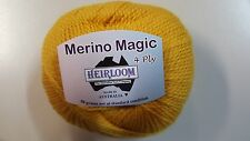 Heirloom Merino Magic 4 Ply #509 Gold 100% Wool