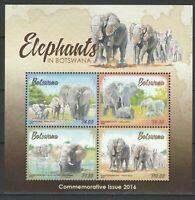 Botswana 2016 Fauna, Animals, Elephants MNH Sheet