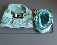 Dog Harness and leash Size Small /Baby blue