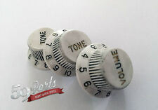 3 RELIC FENDER WHITE KNOBS AGED VINTAGE STRATOCASTER 59 PARTS HAND AGED