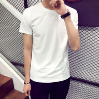 Men Short Sleeve T Shirt Basic Tee White Casual Tops Cotton T-Shirt M,L,XL,2XL