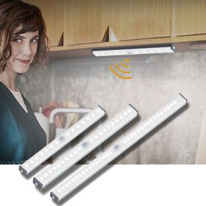 LED Lamp Cabinet Bedroom Night Light Motion Sensor Wireless USB Rechargeable
