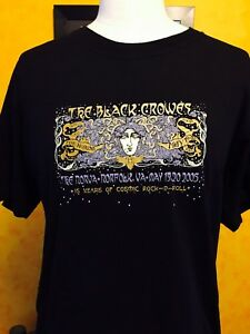 BLACK CROWES -2005 @ May 19th & 20th Norfolk, Virginia  Event Tour Shirt