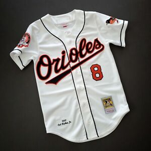 100% Authentic Cal Ripken Mitchell & Ness 2001 Orioles Jersey Size 36 S Mens